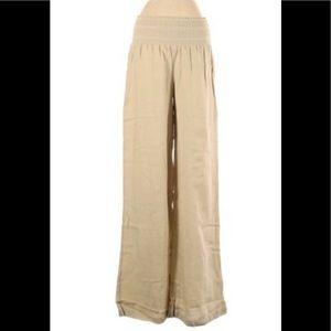 Rewash NWT sand linen smocked waist flowy pants S